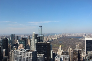 A shot of Central Park taken from the Top of the Rock in New York!